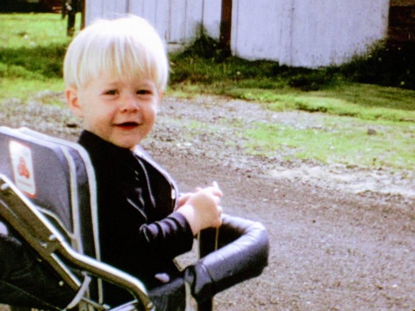 Cena da infância de Kurt Cobain no documentário Montage of Heck