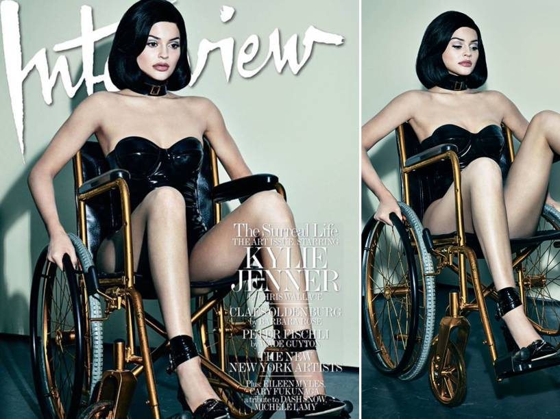 Fotos polêmicas de Kylie Jenner para a revista Interview
