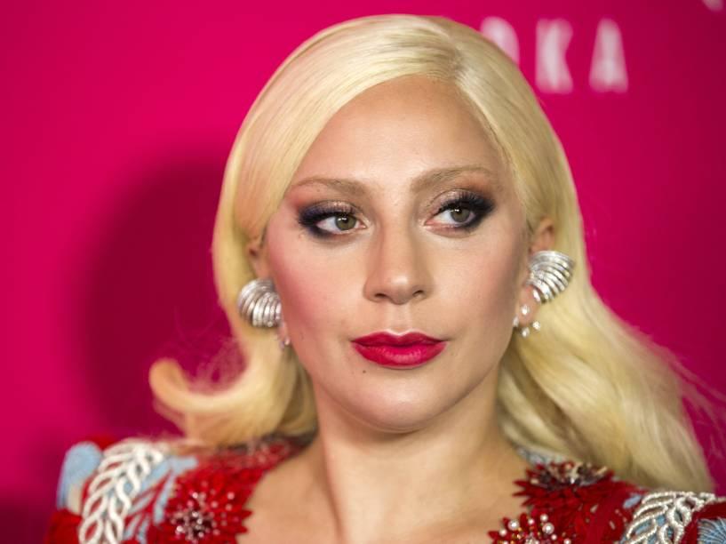 Lady Gaga chega para a estreia do filme <em>Rock the Kasbah</em>, em Nova York - 19/10/2015