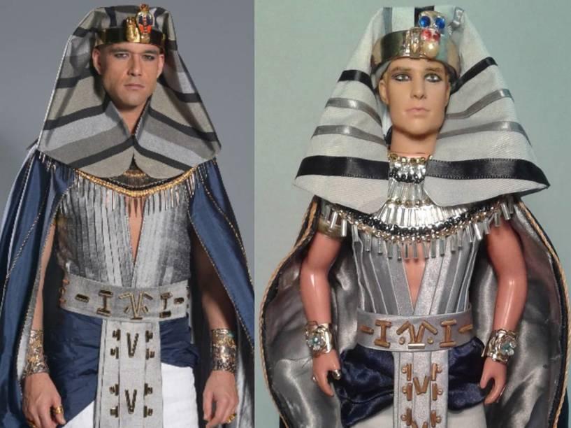 O faraó Ramsés (Sérgio Marone), personagem da novela Os Dez Mandamentos