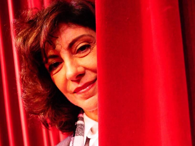 Marília Pêra durante o ensaio do musical Gloriosa em 2009