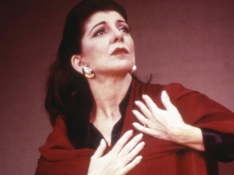 Marília Pêra como Maria Callas, no musical Master Class em 1996