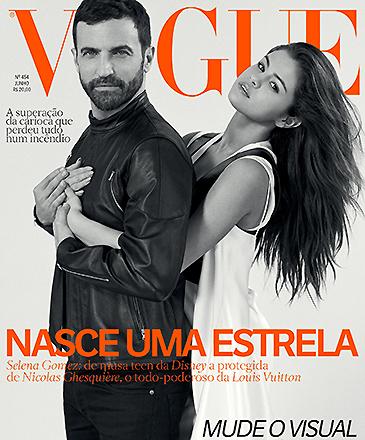 A cantora Selena Gomez, na capa da revista Vogue
