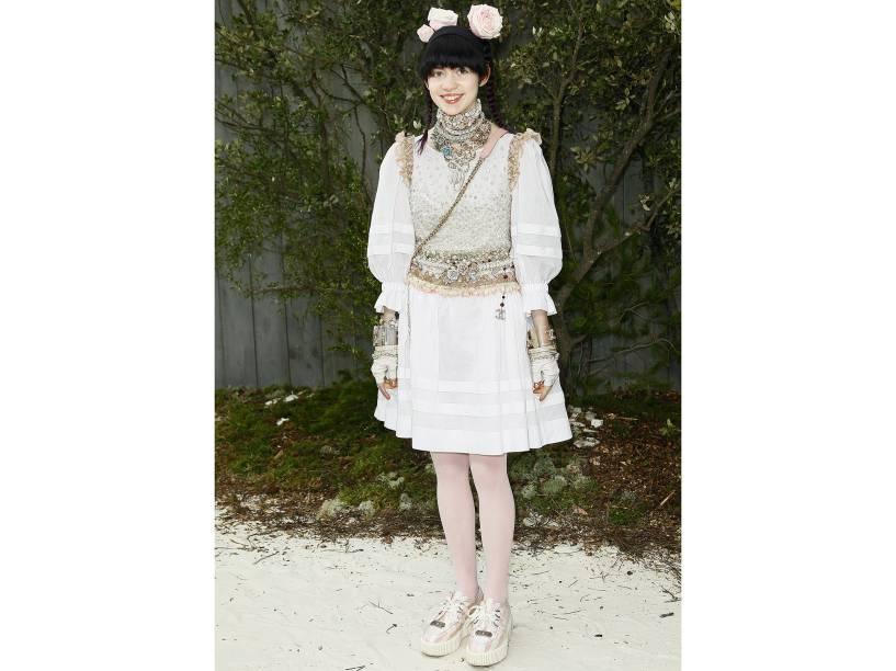 Grimes durante a semana de moda de Paris em 2013