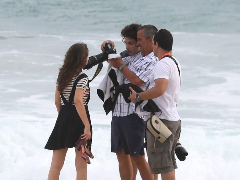 Gravação de Babilônia, a próxima novela das nove, na Praia da Reserva, no Rio de Janeiro