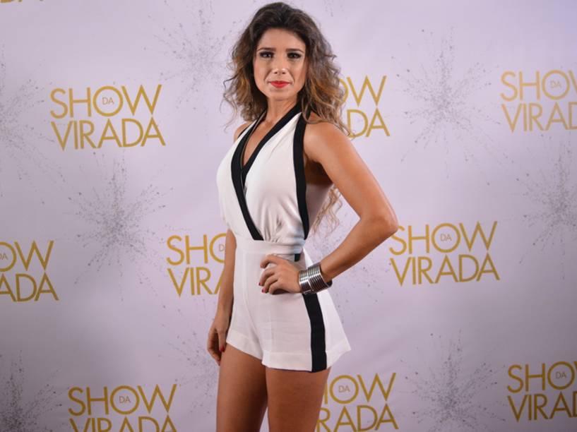 Paula Fernandes participa das gravações do Show da Virada em Salvador