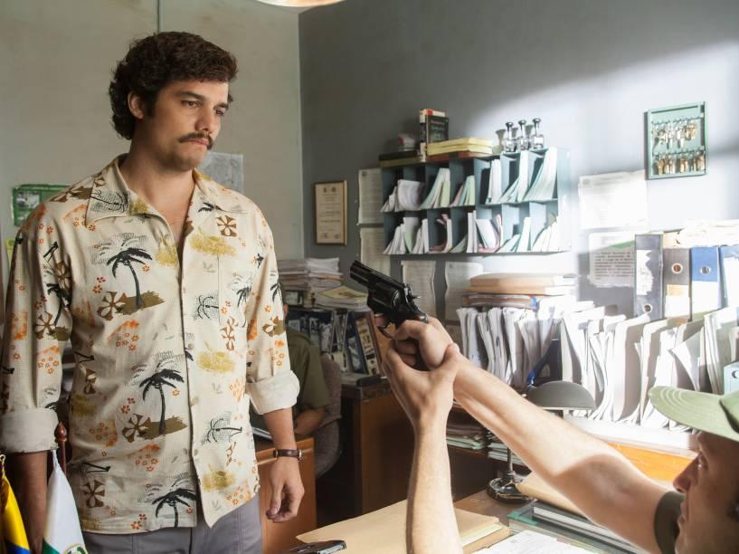 Wagner Moura como Pablo Escobar em Narcos
