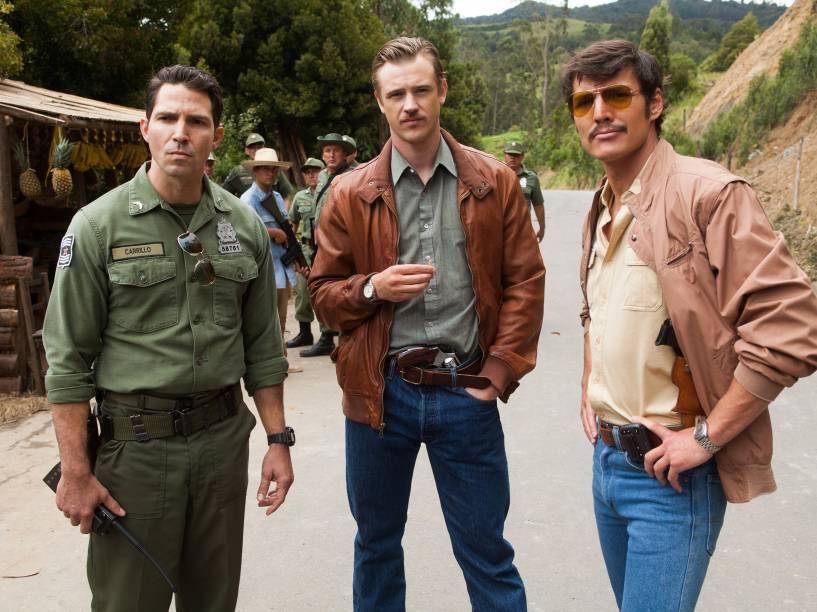 Maurice Compte, Pedro Pascal e Boyd Holbrook dão vida aos personagens Horatio Carrillo, Javier Peña e Steve Murphy em Narcos