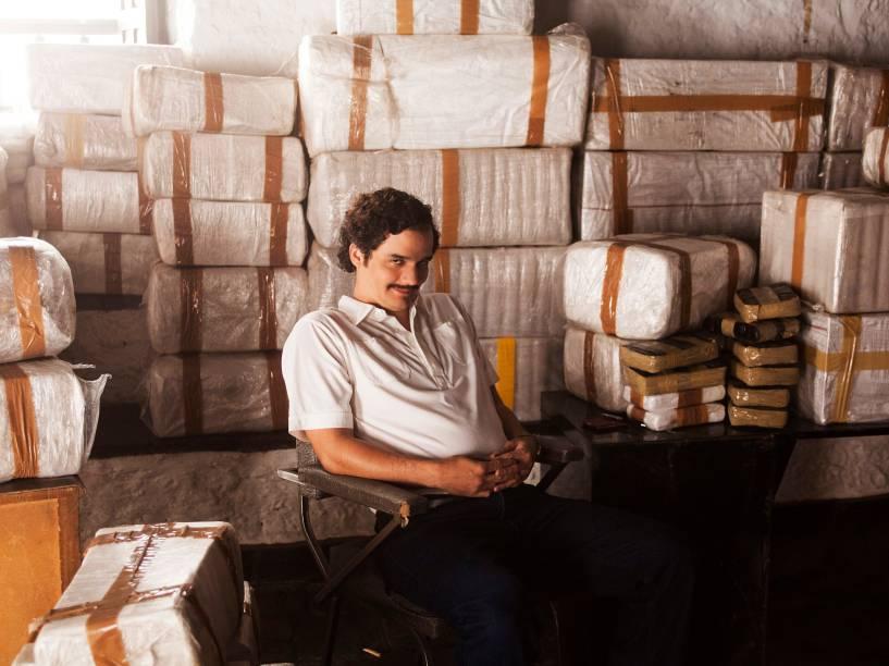 Wagner Moura interpreta o narcotraficante colombiano Pablo Escobar
