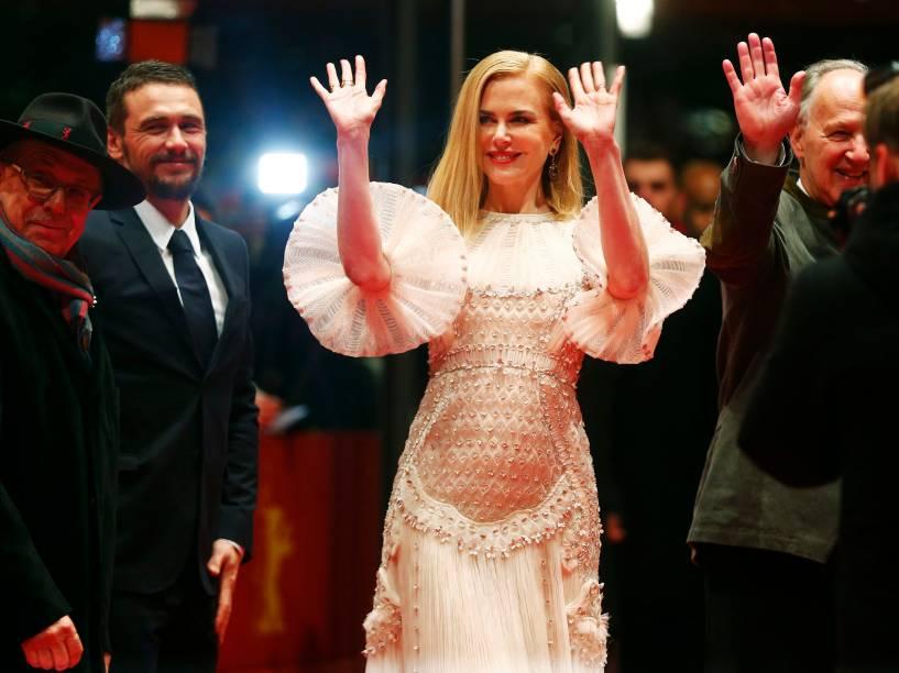 (E/D): Diretor Dieter Kosslick, os atores James Franco e Nicole Kidman e o diretor Werner Herzog chegam para a exibição do filme A Rainha do Deserto no 65º Festival Internacional de Cinema de Berlim - 06/02/2015