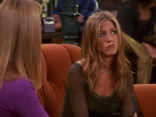Rachel (Jennifer Aniston) em Friends