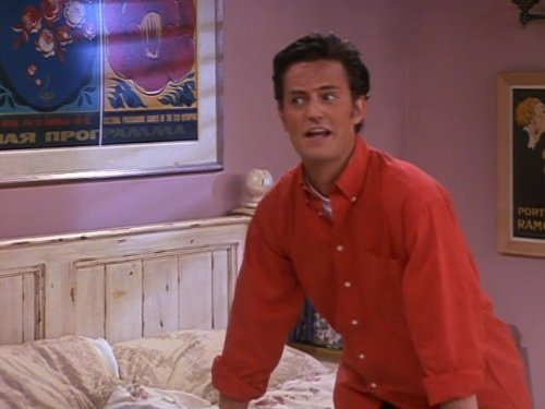 Chandler (Matthew Perry) na série Friends