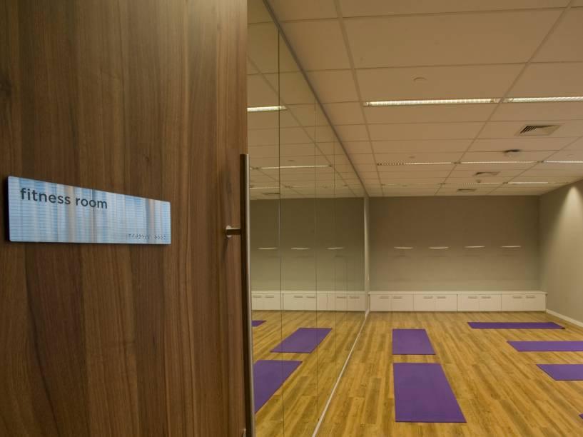 Sala de ioga no novo escritório do Twitter em São Paulo