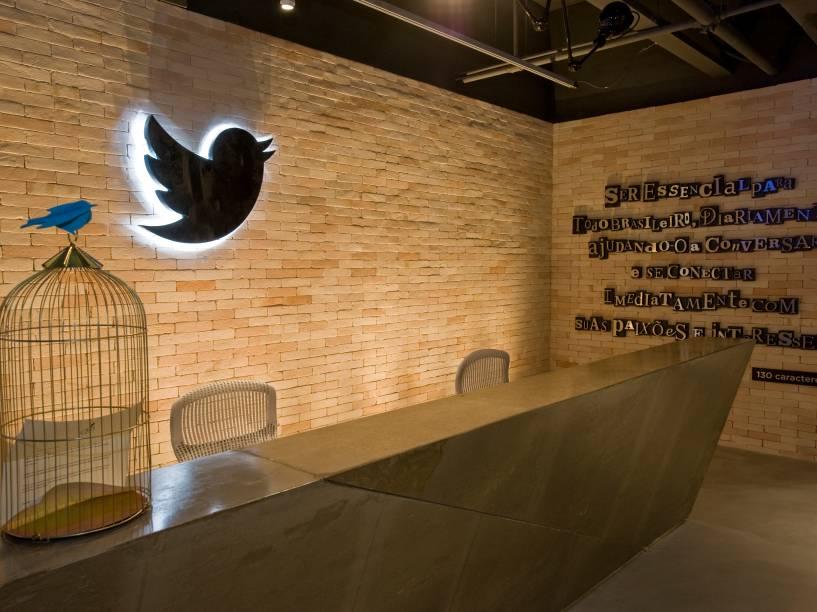 Recepção do novo escritório do Twitter em São Paulo