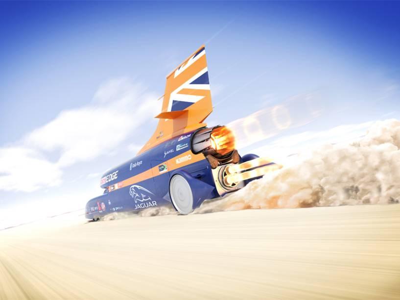 O veículo supersônico Bloodhound SSC