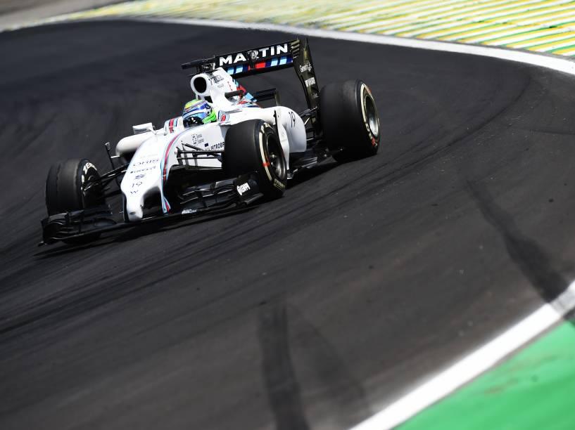 Felipe Massa conquistou o terceiro lugar no GP Brasil