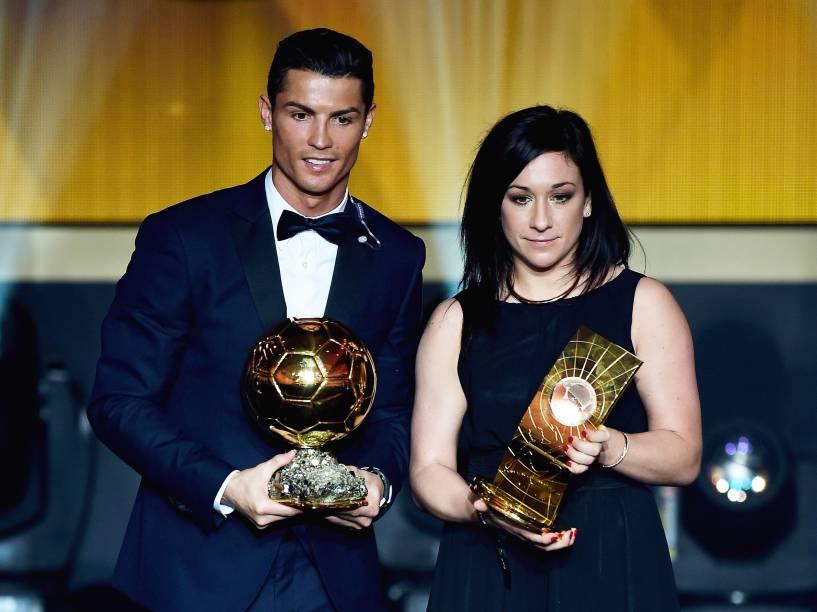 O português Cristiano Ronaldo e a alemã Nadine Kessler, eleitos os melhores do mundo pela Fifa