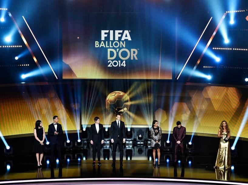 Cerimônia da Bola de Ouro FIFA 2015 é realizada em Zurique, na Suiça