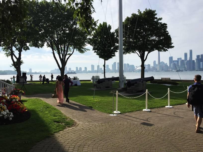 O clube de campo do Royal Canadian Yacht Club, na Ilha Central de Toronto