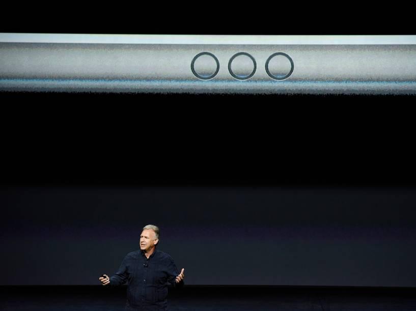 Apresentação do novo iPad em São Francisco, na Califórnia com tela de 12.9 polegadas