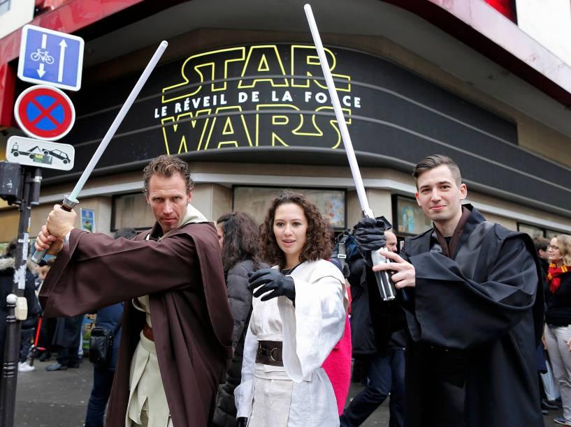 Pré-estreia de Star Wars: O despertar da força em Londres, nesta quarta (16)