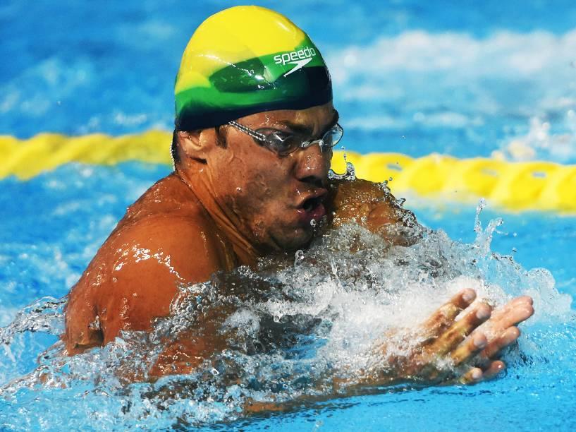 O nadador brasileiro Felipe França conquista a medalha de ouro nos 100m peito, nos Jogos Pan-Americanos em Toronto, no Canadá - 17/07/2015