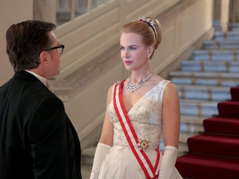 """Cena de """"Grace, de Mônaco"""", com a atriz Nicole Kidman no papel de Grace Kelly, mãe de Albert II"""