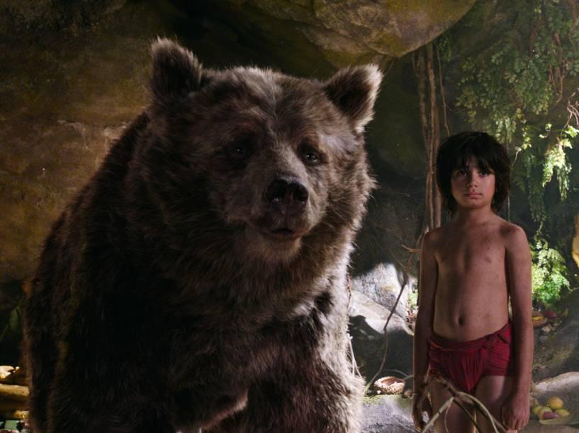 Bill Murray dá voz ao urso Baloo, o amigo de Mogli no filme: Mogli - O Menino Lobo
