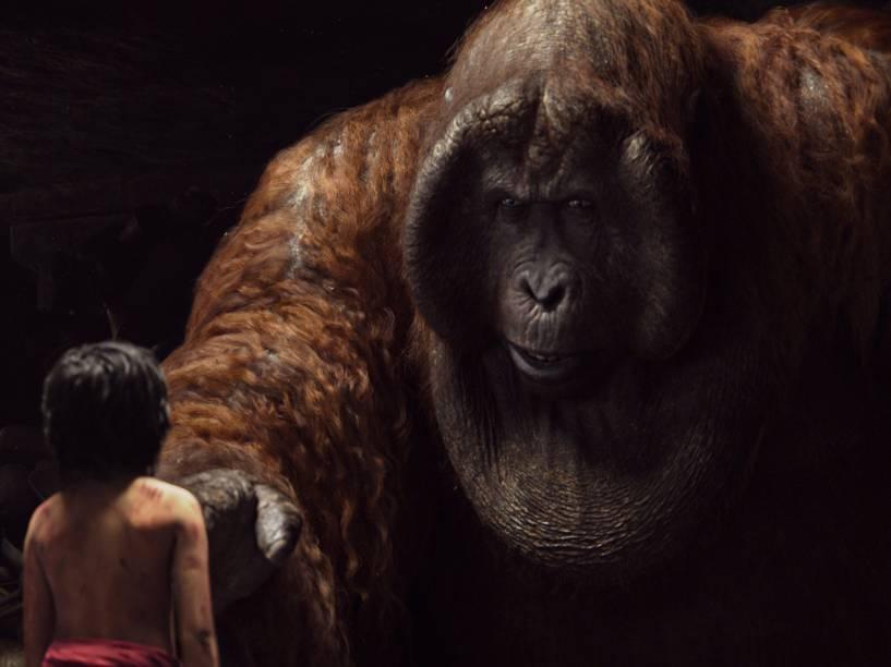 O macaco Louie (na voz de Christopher Walken) em cena do filme Mogli - O Menino Lobo