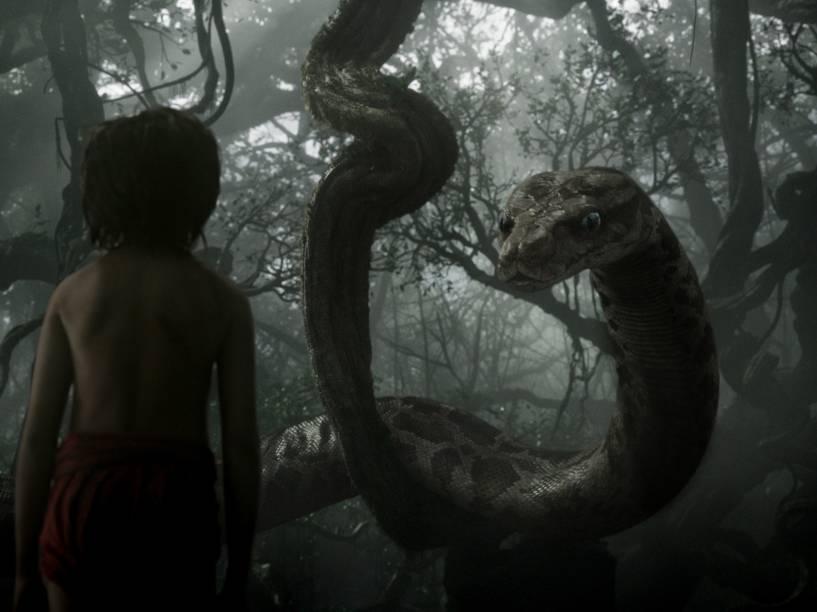 Scarlett Johansson dá voz à sedutora cobra Kaa, no filme Mogli - O Menino Lobo