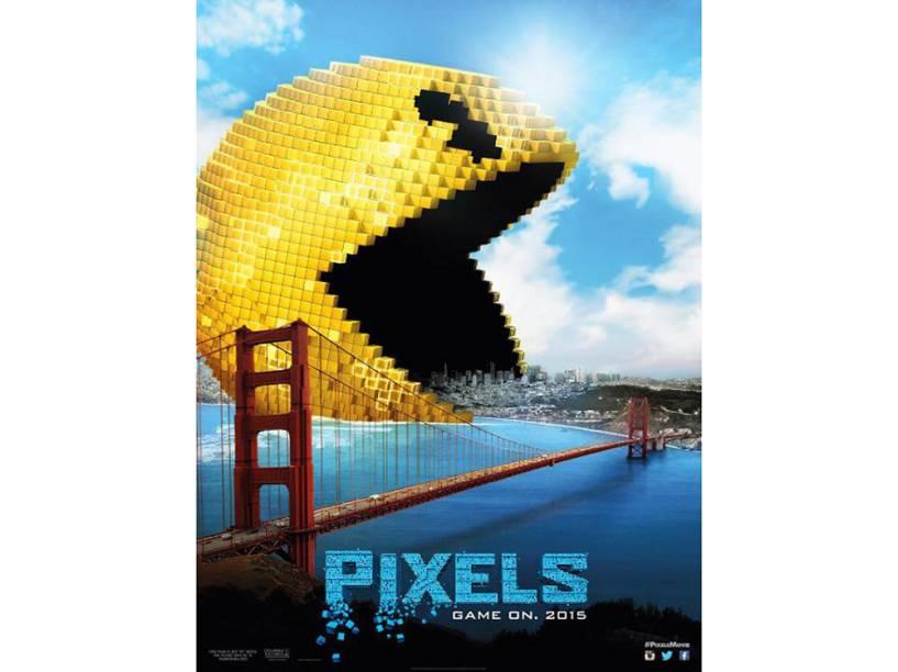 Cartaz de divulgação do filme Pixels
