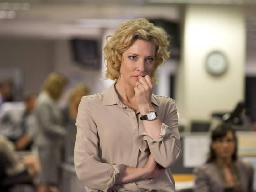Mary Mapes (Cate Blanchet) no filme Conspiração e Poder