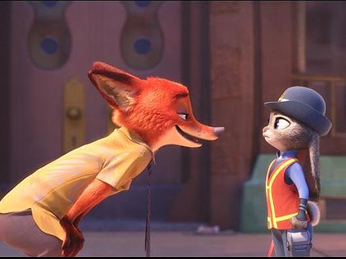 Nick e Judy, os protagonistas de Zootopia, novo filme da Disney