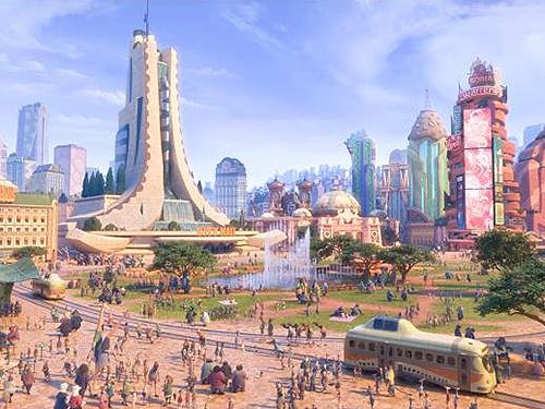 A cidade de Zootopia, que dá nome ao novo filme da Disney