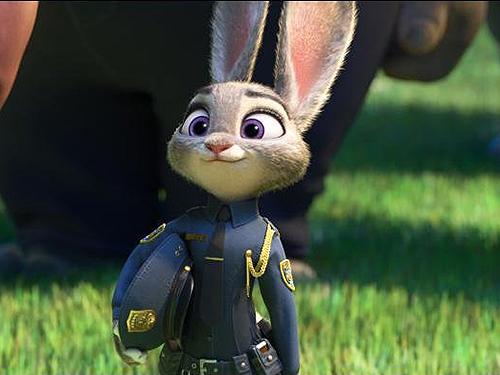 Judy Hopps, a primeira coelha da história do departamento de polícia de Zootopia