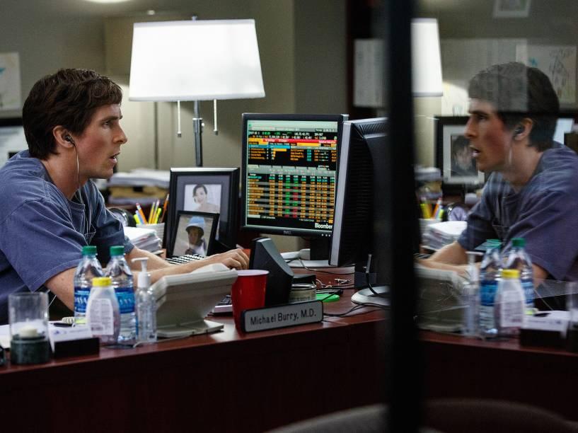 Christian Bale como Michael Burry em 'A Grande Aposta'