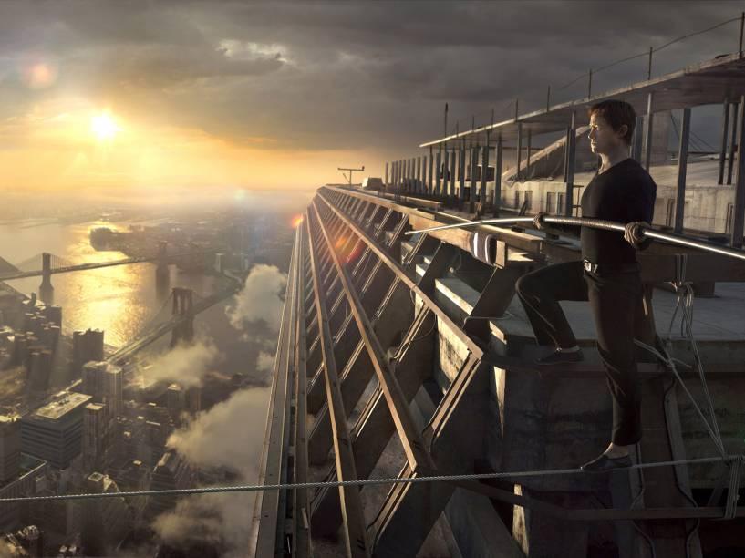 A Travessia (The Walk), filme protagonizado por Joseph Gordon-Levitt sobre Philippe Petit, o equilibrista francês que atravessou as Torres Gêmeas andando sobre um cabo, em 1974