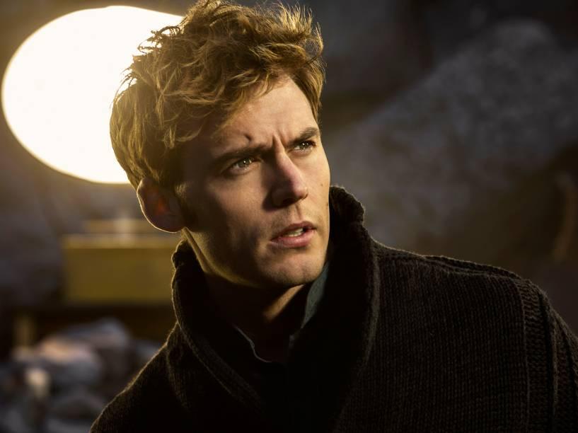 Personagem Finnick, interpretado por Sam Claflin, em Jogos Vorazes: A Esperança - Parte I