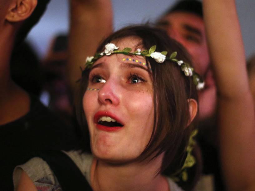Público durante apresentação da banda Florence and The Machine no segundo dia do Festival Lollapalooza Brasil 2016