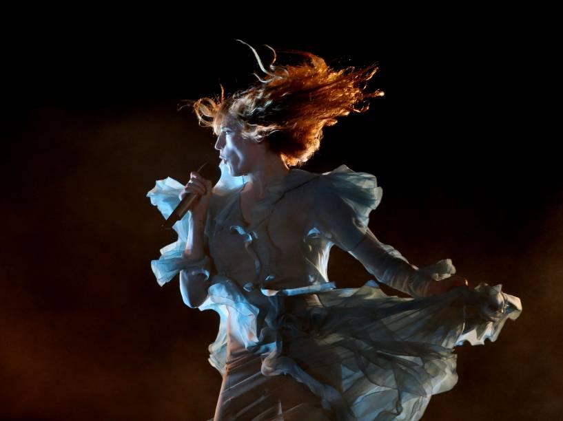 Apresentação da banda Florence and The Machine no segundo dia do Festival Lollapalooza Brasil 2016