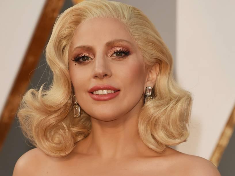 Lady Gaga antes do início do Oscar 2016 no Teatro Dolby, em Los Angeles