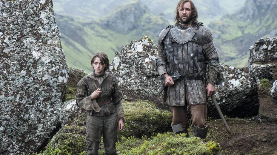 Arya Stark (Maisie Williams) em cena do episódio final da 4ª tem porada de Game Of Thrones