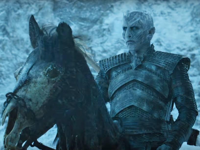 O Rei (Richard Brake) dos Caminhantes Brancos em cena da sexta temporada de Game of Thrones