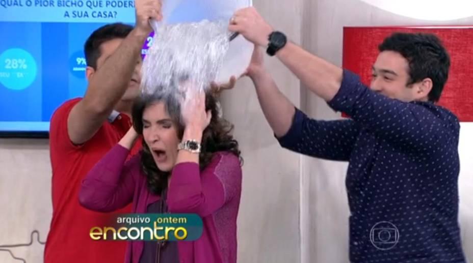 Fátima Bernardes participa da campanha durante seu programa matinal