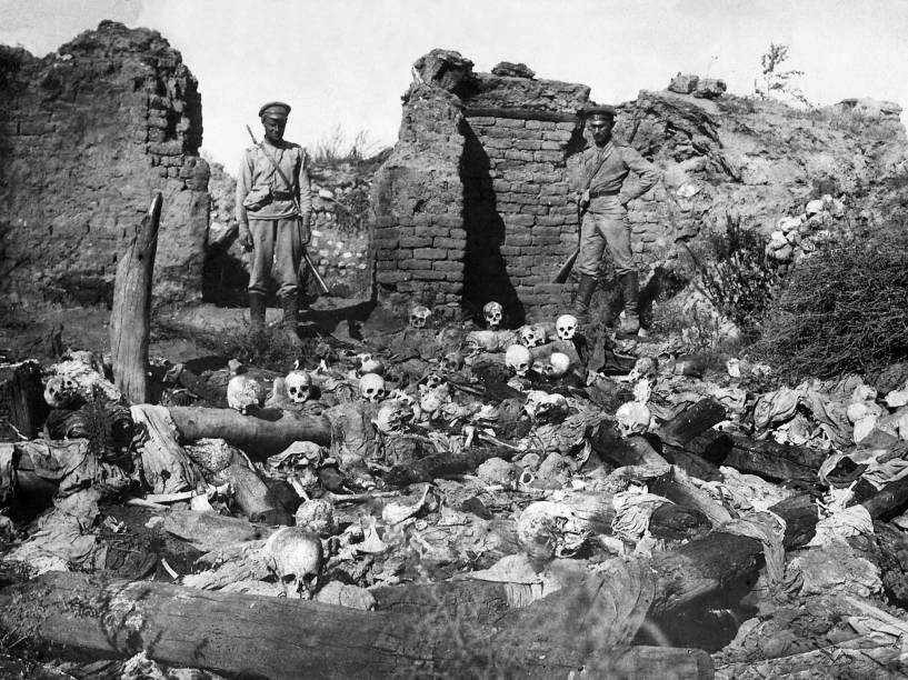 Cerca de 1,5 milhão de armênios foram mortos durante o genocídio