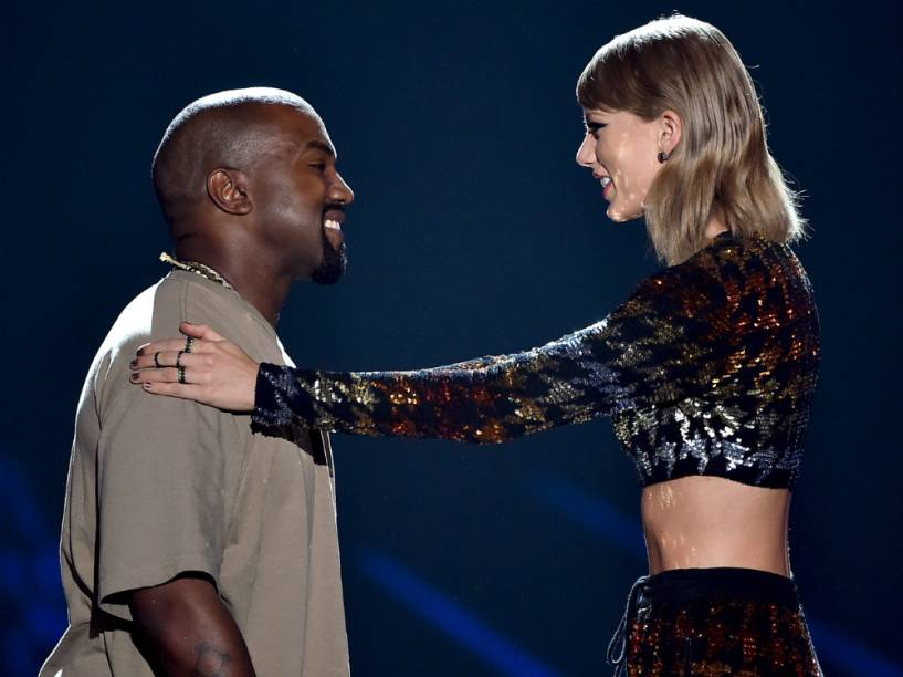 Kanye West e Taylor Swift no VMA 2015