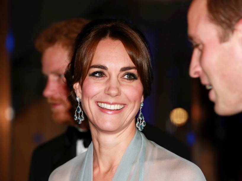 A duquesa de Cambridge, Kate Middleton durante première de '007