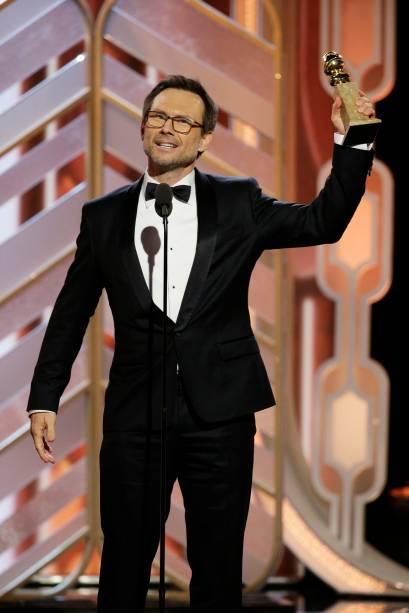 Christian Slater recebe prêmio por Mr. robot