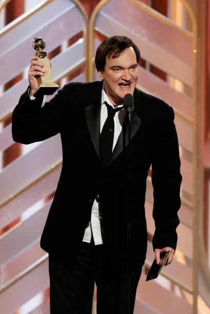 Tarantino recebe o Globo de Ouro pela trilha sonoroa de Os Oito Odiados
