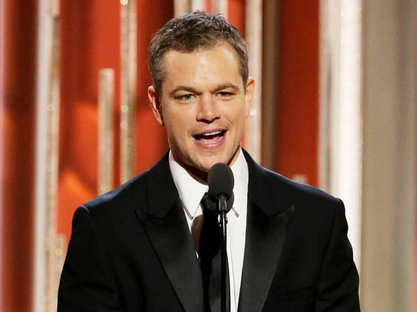 Matt Damon ganha Globo de Ouro por 'Perdido em Marte'